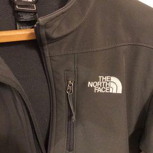 North Face Dark Grey shell w fleece